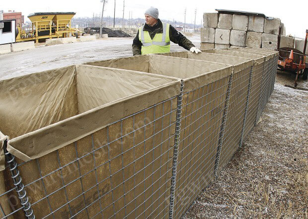 China Military Bastions Sizes Hesco Barriers Dimension MIL Types