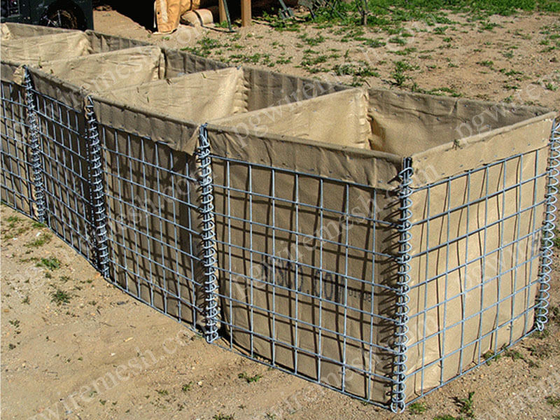 Hesco defense wall military sand wall bastion barrier concertainer units China factory/manufacturer