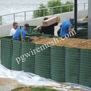 China flood barrier system same as Hesco flood barrier