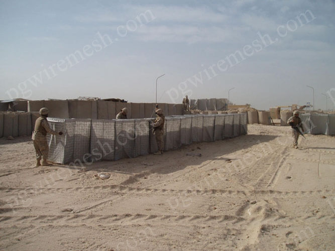Military sand wall hesco barrier bastion blast wall China factory