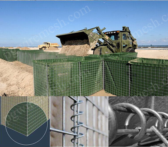 Galvanized steel wire material kinds of hesco defensive barrier bastion explosion-proof wall