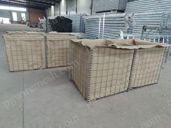 Zinc-alunimum coated hesco barrier mil2, mil5 multi-cellular defensive barrier fortification China manufacturer