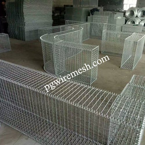 Gabion in the loading and unloading should be noted