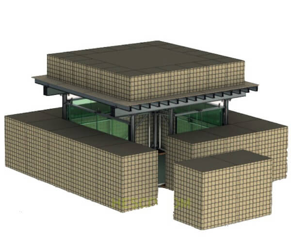 China mil1,mil2,mil3,mil5,mil7,mil10 Hesco Bastion Barrier for Protection Against Explosion
