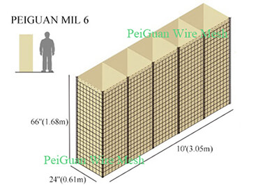 Hesco Bastion Barrier MIL6