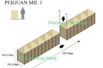 Hesco Barrier Bastion MIL1 5442R