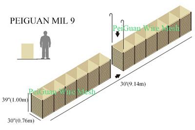 Hesco Bastion Barrier MIL9