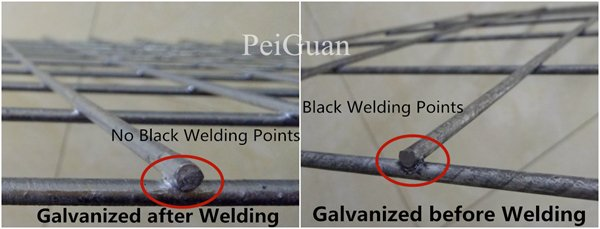 Regarding the welded wire mesh panels of Hesco Barrier, the different welding and galvanizing method of welded wire mesh panels.